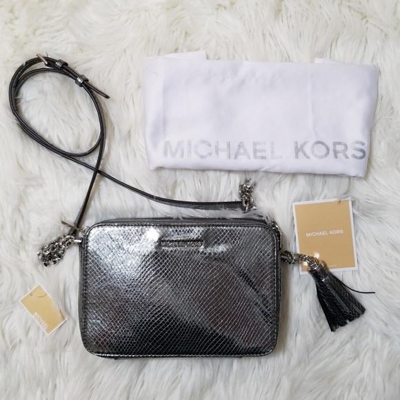 2348b025549f Michael Michael Kors GINNY SILVER Pewter Bag
